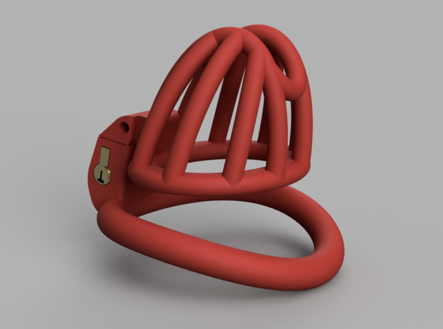 """Cherry Keeper """"Headlock"""" Cage - Small Wide in Red Processed Versatile Plastic: Medium"""