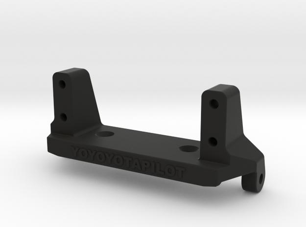 Capra servo mount stronger than stock in Black Natural Versatile Plastic