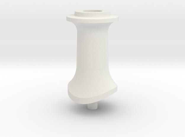 LBSCR E4 Tall Chimney in White Natural Versatile Plastic