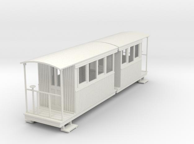 o-55-redlake-tramway-coach-3-4 in White Natural Versatile Plastic