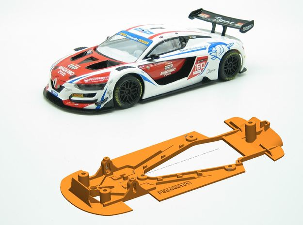 PSSC00101 Chassis for SCX Renault Sport RS01 GT in White Natural Versatile Plastic