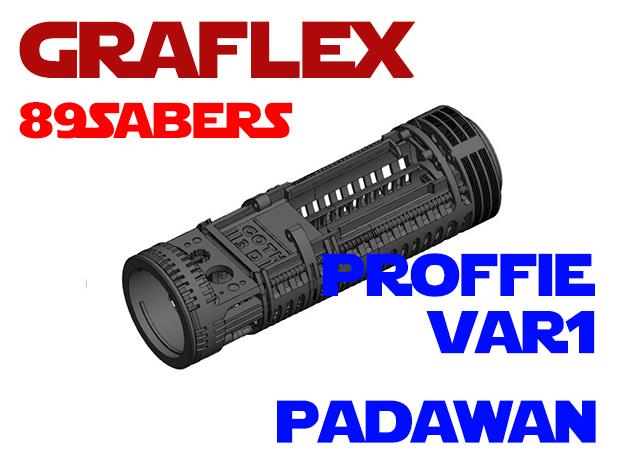 Graflex 89Sabers - Padawan Var1 Proffie in White Natural Versatile Plastic