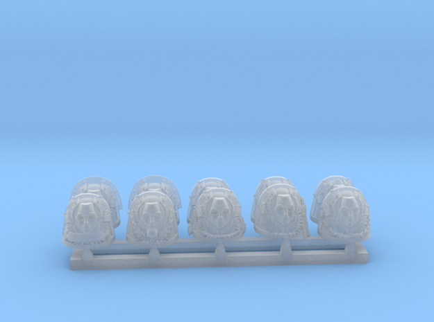 bloody angels guard shoulderpads in Smoothest Fine Detail Plastic