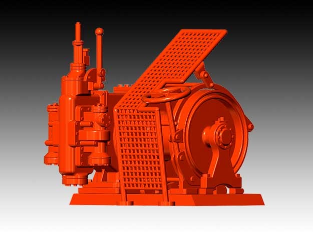 Tugger Winch - 1:50 in Smooth Fine Detail Plastic