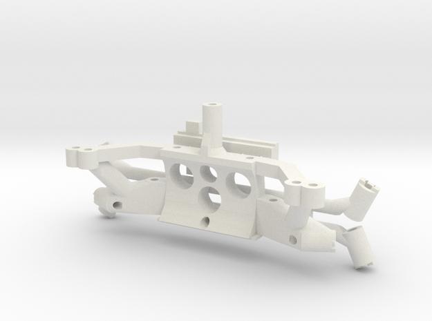 JRP V7 motor mount plastic parts for PN chassis in White Natural Versatile Plastic