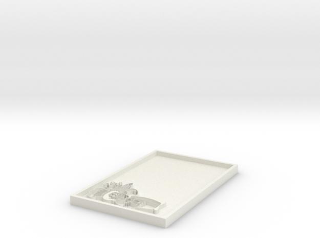 Name Tag Blank in White Natural Versatile Plastic