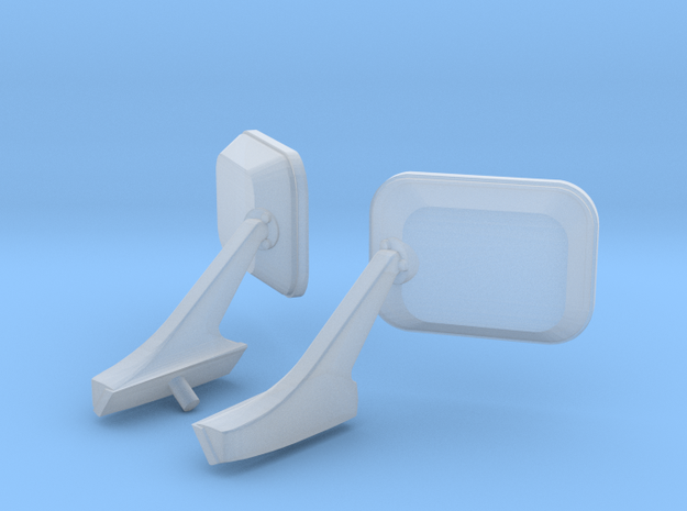 1/25 GMH Holden HQ Door Mirrors stock in Smooth Fine Detail Plastic