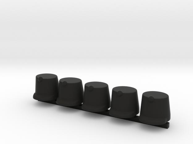 5 x Austrian Shako 1859 in Black Premium Versatile Plastic