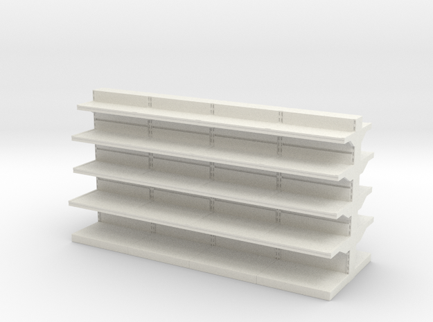 Grocery Shelf  01. 1:48 Scale in White Natural Versatile Plastic