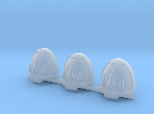 Red Ángeles 3 drops Gravus shoulder pads x3 L #2 in Smooth Fine Detail Plastic