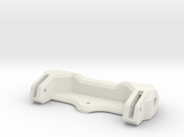 STH: Rear Comp Bumper 70mm in White Natural Versatile Plastic