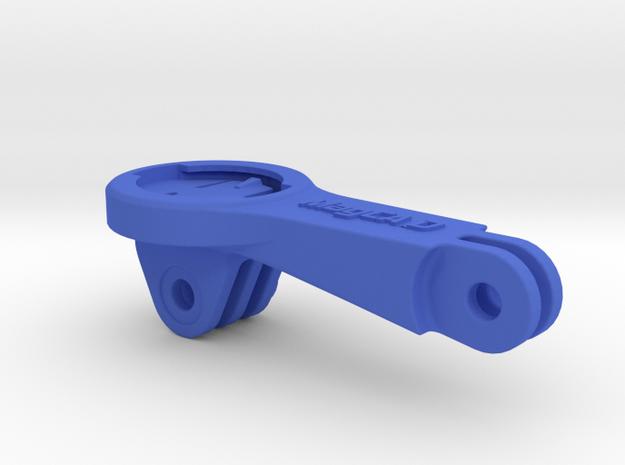 Garmin 1030 GoPro BMC ICS Mount in Blue Processed Versatile Plastic