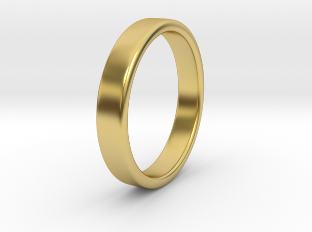 Simple Ring _ B in Polished Brass: 8 / 56.75