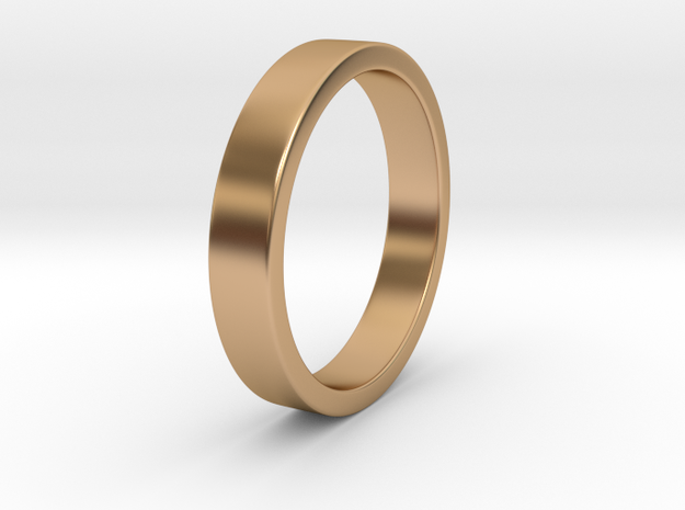 Simple Ring _ C in Polished Bronze: 8 / 56.75