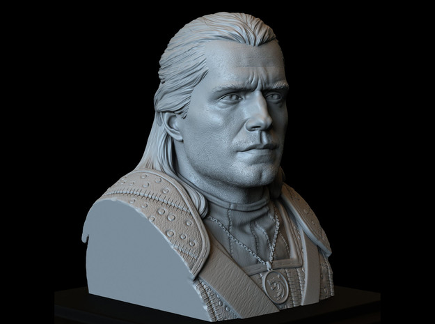 Geralt of Rivia from The Witcher in White Natural Versatile Plastic