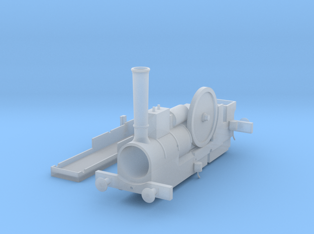 OO Scale NWR Traction Engine Body in Smooth Fine Detail Plastic