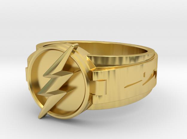 v3 Reverse Flash size 12.5 21.89mm in Polished Brass