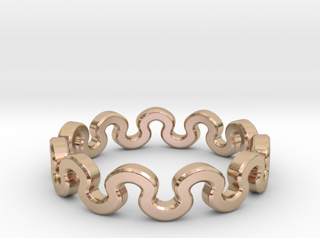 Crown Ring _ D in 14k Rose Gold Plated Brass: 8 / 56.75