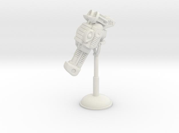 MOTUC Robot Horse Mask Display Stand in White Natural Versatile Plastic