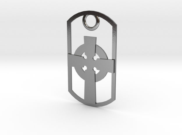 Celtic-style Ionian Cross dog tag 3d printed
