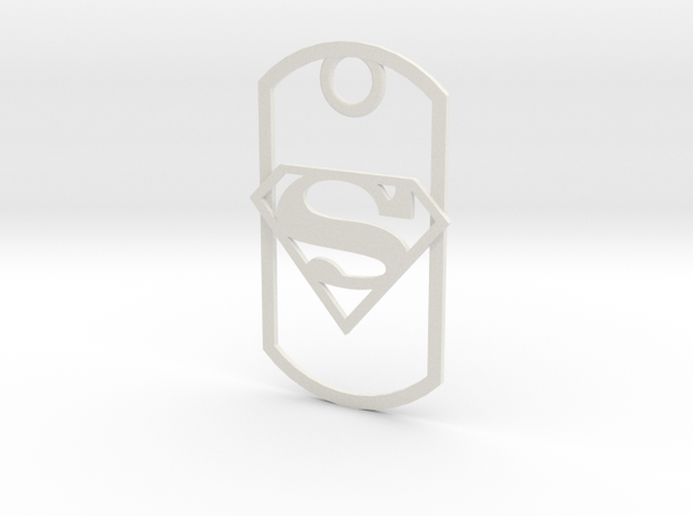 Superman dog tag 3d printed