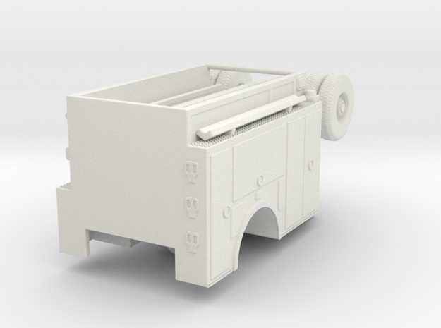 1/87 AHHL Engine Body Compartment Doors in White Natural Versatile Plastic