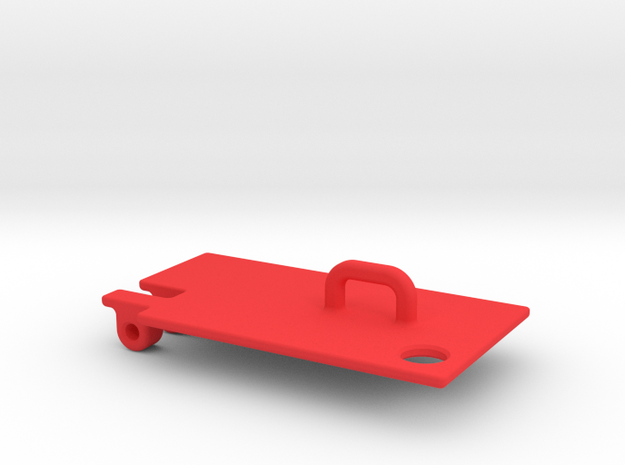 Axial fuel cell battery cover - door in Red Processed Versatile Plastic