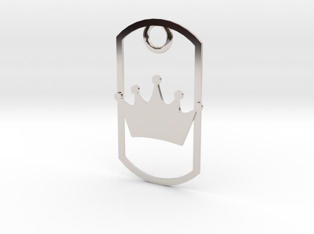 Crown dog tag 3d printed