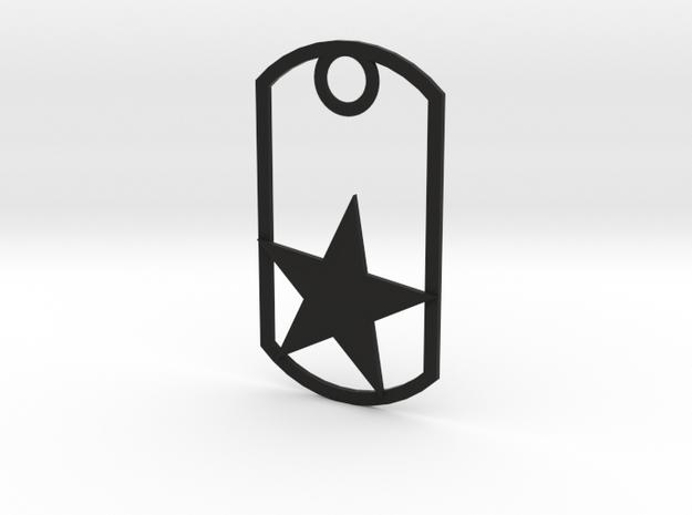 Star dog tag 3d printed