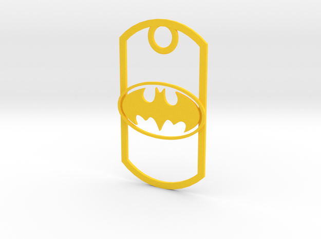 Dogtag-batman2 in Yellow Processed Versatile Plastic