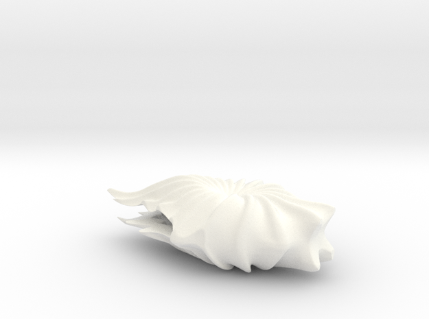 Vase H in White Strong & Flexible Polished