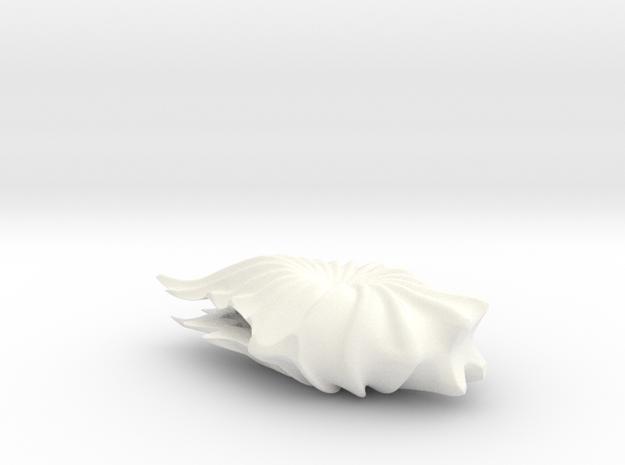 Vase H in White Processed Versatile Plastic
