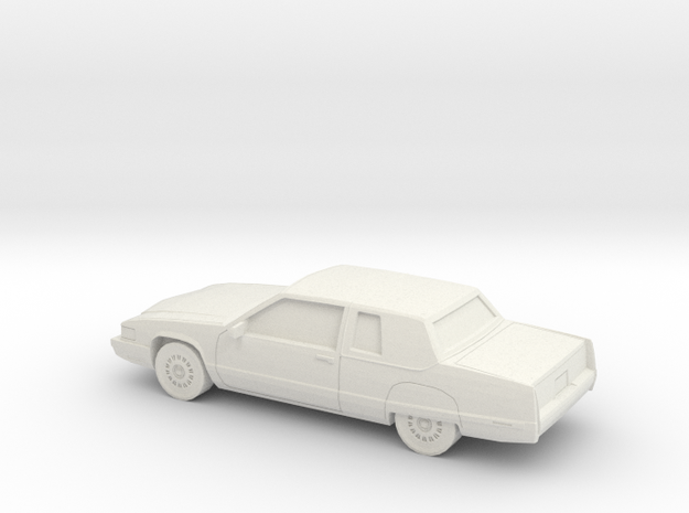 1/43 1991 Cadillac Fleetwood Coupe in White Natural Versatile Plastic
