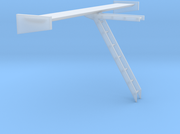 1/24 1/25 experimental wing 2 in Smooth Fine Detail Plastic
