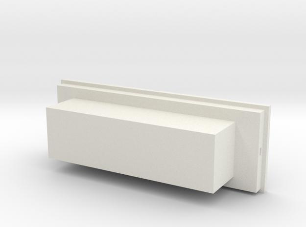 1/64 Truck toolbox - Kubota in White Natural Versatile Plastic