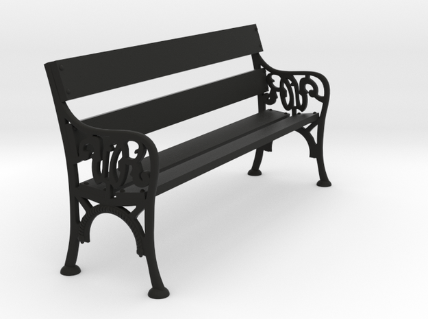 Victorian Railways Bench Seat 1:18 Scale in Black Natural Versatile Plastic