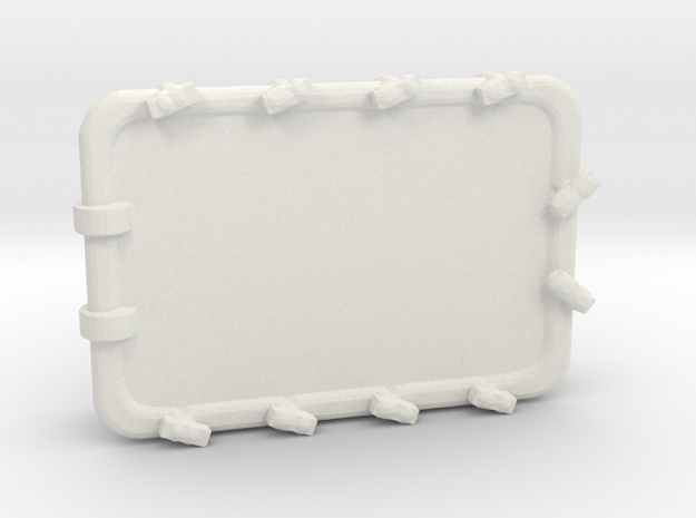 1/96 Scale 54 x 36 inch Armored Hatch in White Natural Versatile Plastic