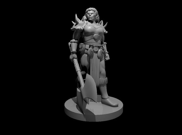 Orc Female Warrior in Smooth Fine Detail Plastic