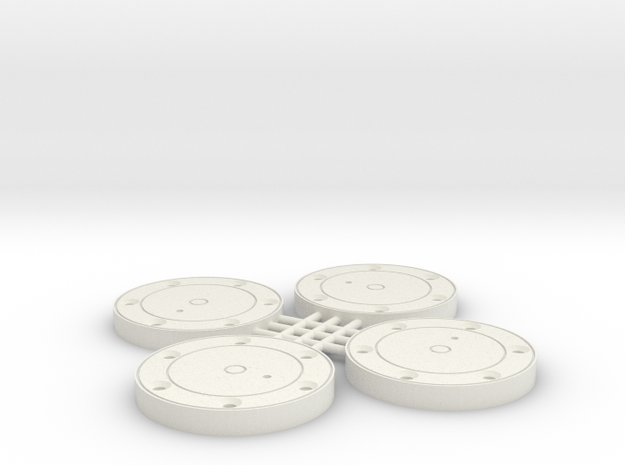 1/10 SCALE BF4 PLANETARY COVER in White Natural Versatile Plastic