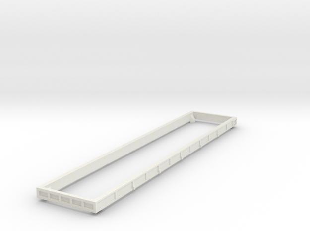 6000cf Wood chip Gondola J301 - Side Extension in White Natural Versatile Plastic