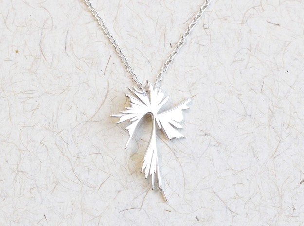 Phylogenetic Tree Pendant - Biology Jewelry in Polished Silver