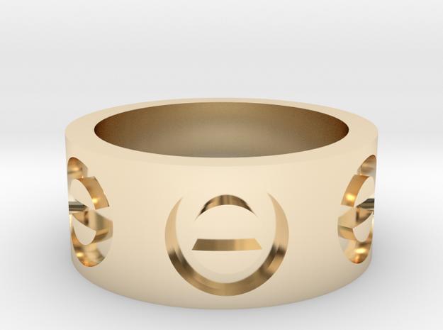 shapeways custom in 14K Yellow Gold