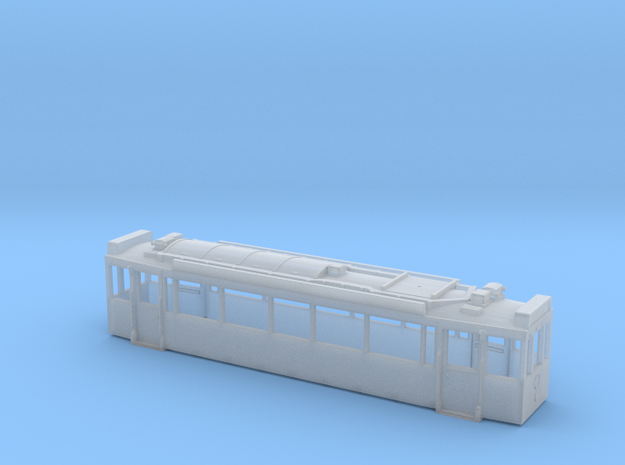 Motrice eugie SNCV serie 10600 2 bogies HOM BT a F in Smooth Fine Detail Plastic: 1:87 - HO