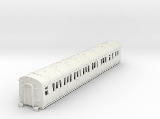 o-76-gwr-e128-lh-brake-comp-coach in White Natural Versatile Plastic