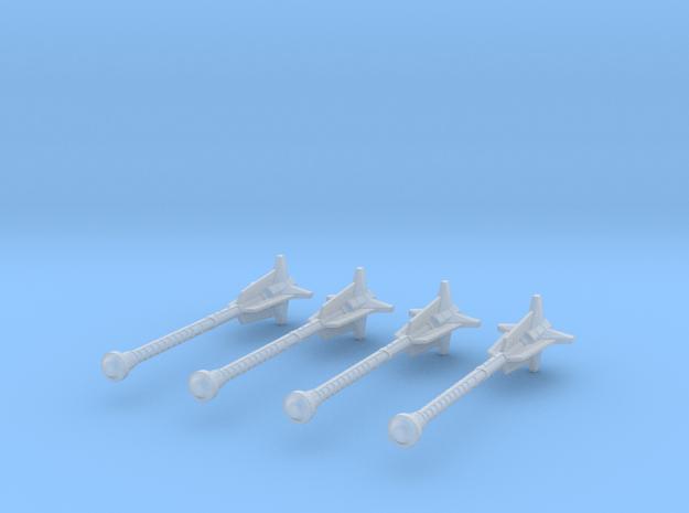 1:18 Miniature Dwarven Mace - 4x in Smooth Fine Detail Plastic