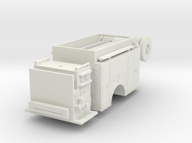 1/64 AHHL Engine Body Compartment Doors w/ Pump (U in White Natural Versatile Plastic