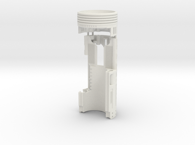 Graflex Mentor - Var2 Part9 Style3 - Power Module in White Natural Versatile Plastic