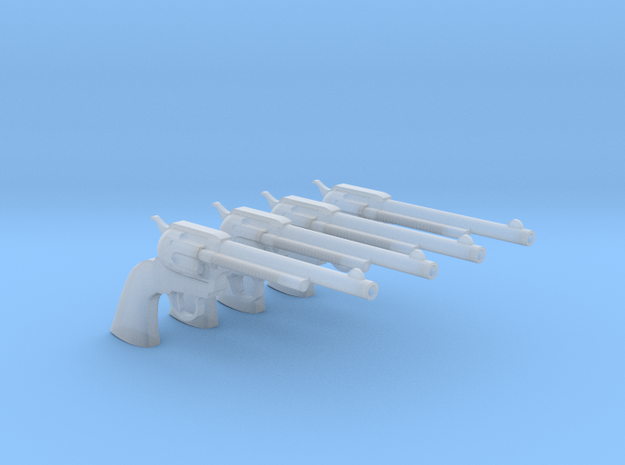 1/18 Scale Colt Peacemaker 4 Pack in Smooth Fine Detail Plastic
