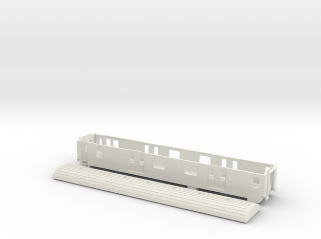 MC76 D ex-SNCF - TT Scale in White Natural Versatile Plastic