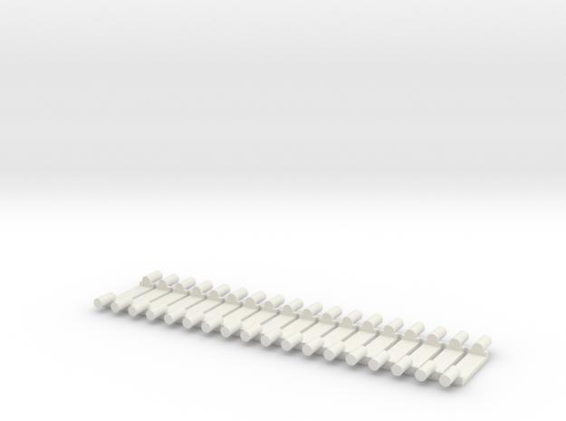 Track Brackets in White Natural Versatile Plastic